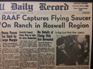 The day the 1947 UFO crash went public from Roswell, NM