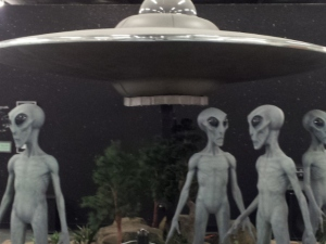 Aliens visiting their Museum in Roswell